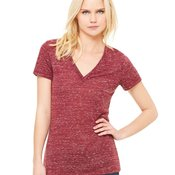 Women's Deep V-Neck Jersey Tee